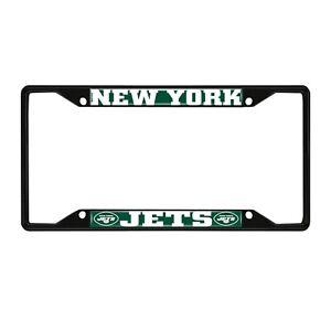 Fanmats NFL New York Jets Black Metal License Plate Frame Del. 2-4 Days