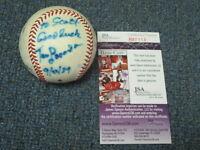 Tom Lasorda Autographed Baseball JSA Certified