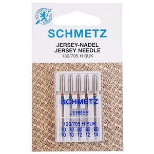 Aiguilles jersey Schmetz Assortiment 70/80/90 Aiguilles machine à coudre 5 pcs