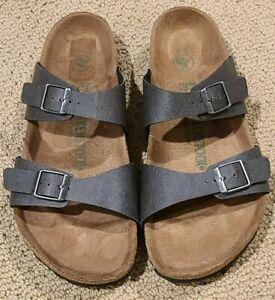 Birkenstock  Vegan Sydney Anthracite Colored Sandals Size 39 M ...L8, M6, NWOB