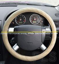 VOLKWAGEN VW FAUX LEATHER BEIGE STEERING WHEEL COVER