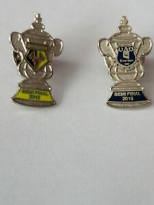 Everton & Watford 2016 FA Cup Semi Final Pin Badges