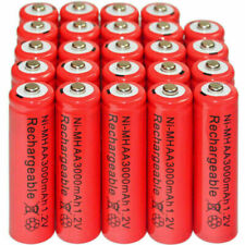 24pcs AA 3000mAh Ni-Mh 1.2V rechargeable Red battery Cell for MP3 RC US