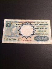 Malaya & British Borneo Banknote 1 Dollar 1959