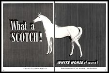 1952 White Horse Scotch Whisky Vintage PRINT AD Distillery Stripes B&W 1950s