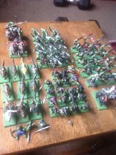 Warhammer orcos goblins orruk Ejército, Arrer chicos guerreros carroza Wolf Riders.