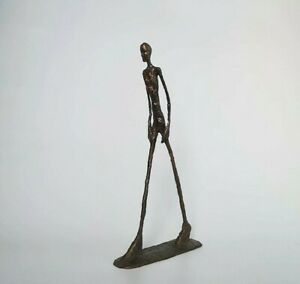 vintage Bronze Sculpture Giacometti  walking man Abstract Sculpture Home decor