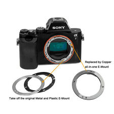 Commlite Metal Copper E-Mount Replacement for Sony A7RII A7R A6300 A6000 A7 NEX