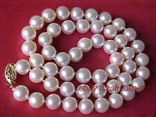 cadeau d'anniversaire! 7-8mm, blanc, perle de culture Akoya, beau, collier, 45cm