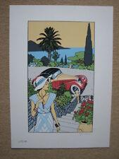"GIARDINO - SERIGRAPHIE COULEURS ""PIN-UP & CARS"" - FEST. BD AUTOWORLD BRUXELLES"
