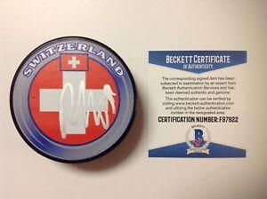 Roman Josi Signed Autographed Switzerland Puck Beckett BAS COA Go Predators a