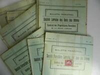 Notiziario Trimestrale Societè Foresta Lorraine Delle Amis Alberi 1926-1933