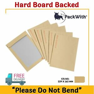 HARD CARD BOARD BACKED ' PLEASE DO NOT BEND 'MANILLA BROWN ENVELOPES A5