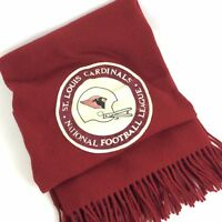 Pendleton Wool Fringed Stadium Blanket Throw Red St Louis Cardinals NFL Applique