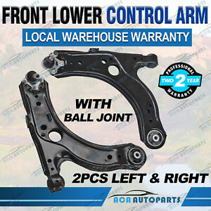 PAIR FRONT LOWER ARMS FOR VW GOLF MK4 & BORA 1999-04 BEETLE 98-10 AUDI A3 96-03