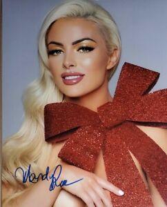 Mandy Rose Hand Signed 8x10 Photo W/ Holo COA WWE