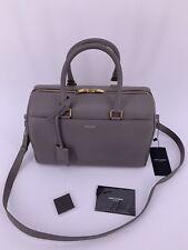 Neu Luxury Original SAINT LAURENT YSL Damen Tasche Bag Leder grau -LP-€1450