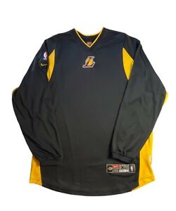 Los Angeles Lakers Vintage Nike Long Sleeve Warm Up Authentic Shirt Size XL