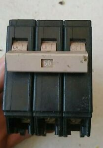 Eaton CH350 3 Pole 50 Amp 120V Circuit Breaker