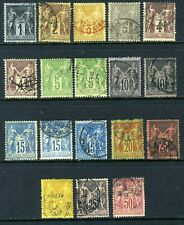 France 1890 Peace & Commerce TYPE II  Collection Range VFU Z272 ⭐⭐