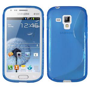 ACCESSOIRES HOUSSES ETUI COQUE SILICONE GEL S BLEU Samsung Galaxy Trend S7560