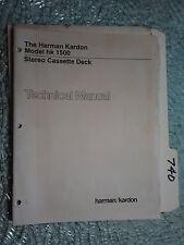 Harman Kardon hk1500 hk 1500 service manual original repair book stereo tape