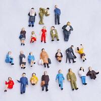 24pcs Painted People Figures Model Train Layout Park Street Scene HO Scale 1:87