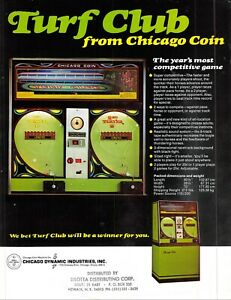 Turf Club Chicago Coin Vintage 1970s Advertising Sales Flyer 021219AME