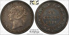 Newfoundland 1874 50c  PCGS Genuine Cleaning XF Details