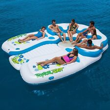 Tropical Tahiti 21185 7-Person Floating Island with Two Suntanning Decks