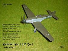"""Heinkel! eh 112 h-1 """"alturas cazador"""" 1/72 Bird models conjunto de transformación/resin conversion"""