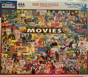 White Mountain Readers Movies 1000 Pc Family Jigsaw Puzzle Larger Pieces new