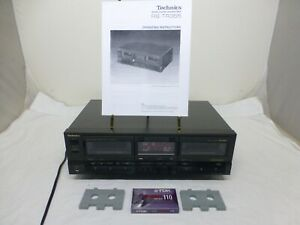 Technics RS-TR355 Stereo Double Cassette Deck Dolby HX PRO w/ Manual - Tested