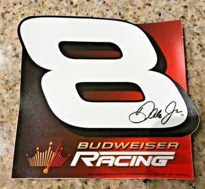 BUDWEISER Dale Earnhardt Jr #8 Vtg Orig Racing Decal NASCAR 2004 Promo UNUSED