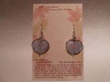 Real Leaf Metal Filigree Drop Earrings - Silver Aspen Wires