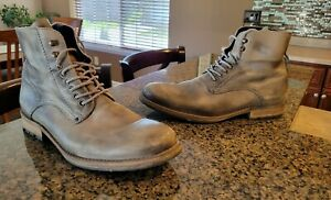Men's Aldo Gray Leather Lace Up Dress Office Casual Boots 45  11.5 - 12