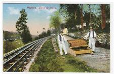 Carro do Monte Cog Railroad Madeira Portugal 1910c postcard