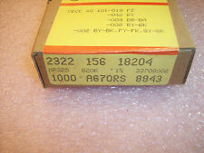 QTY (1000) 820K Ohm 1/4W 1% PRECISION METAL FILM RESISTORS MRS25-820K-1% PHILIPS