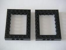 Lego Technic Star Wars 2 Black bricks 6x8 Open Center Neuves New REF 40345