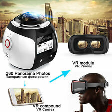 1080P WiFi 4K HD 12MP 360°Panoramic Waterproof Camera Sport DV Action VR Cam New