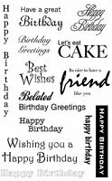 Unmounted Rubber Stamps Birthday Greetings