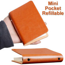 A7 Leather Pocket Loose-leaf Notebook Mini Book Cover Travel Notepad Diary