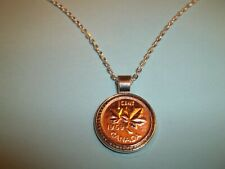 CANADA MAPLE LEAF PENNY COIN - SILVER CASED NECKLACE - 1997 to 2011 - YOU PICK