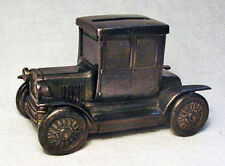 Rare Ford Model T Coupe Metal Coin Bank with Lead Base