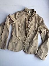 J.Crew Ruffled Front Jeweled Buttons Jacket Blazer Size 0