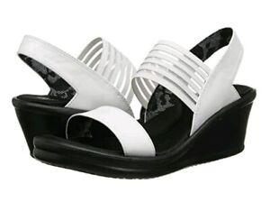 Skechers Women's Rumblers Sci-Fi White Memory Foam Cushioned Sandals Size 10