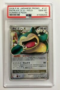 Pokemon PSA 10 Gem Mint 2008 SNORLAX Dominos Japanese Holofoil Promo #127/DP-P