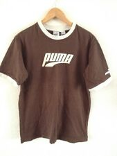 Puma Men's Cotton T Shirt Top Size S Brown With Puma Logo  R12803