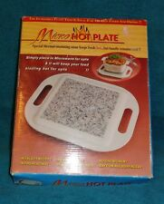 Micro Hot Plate-New-Will keep Foods & Drinks HOT 4 Up To 1 Hour!-Great 4 Outside