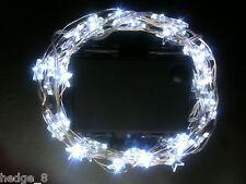 60 LED WHITE STAR Battery String Light + ON+FLASH+Timer mode +Use IN/Outside